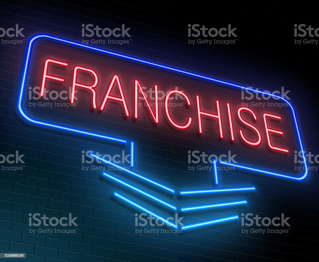 Franchise concept. stock photo
