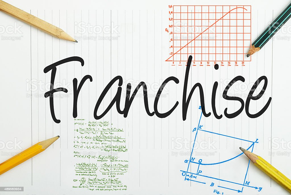 Franchise written in the notebook stock photo