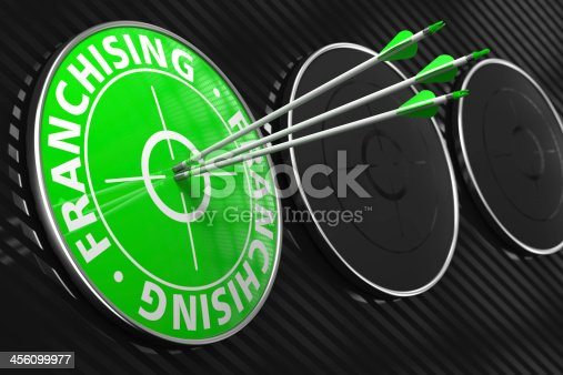 istock Franchising Concept on Green Target. 456099977