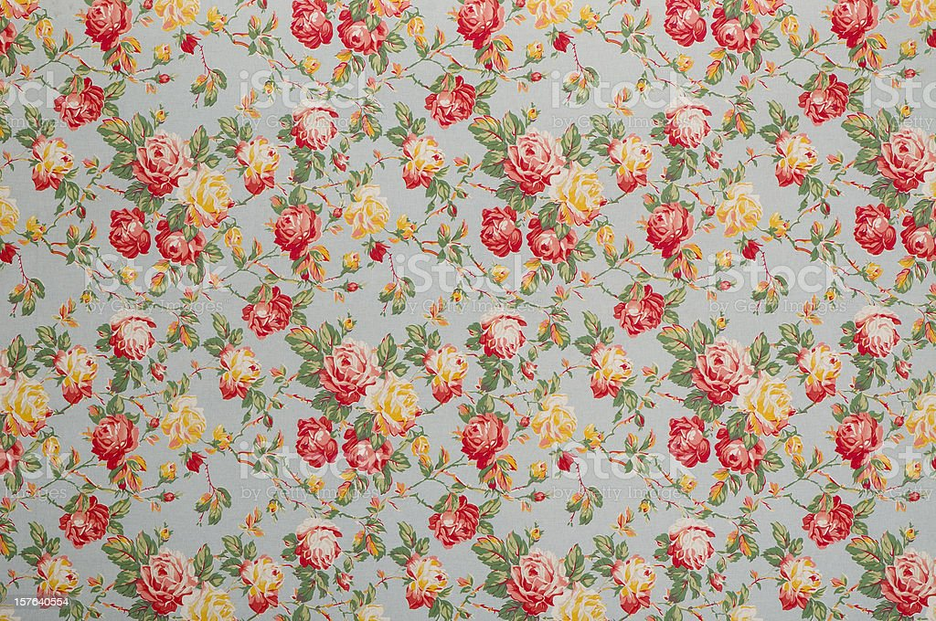 Francine Floral Medium Vintage Fabric stock photo