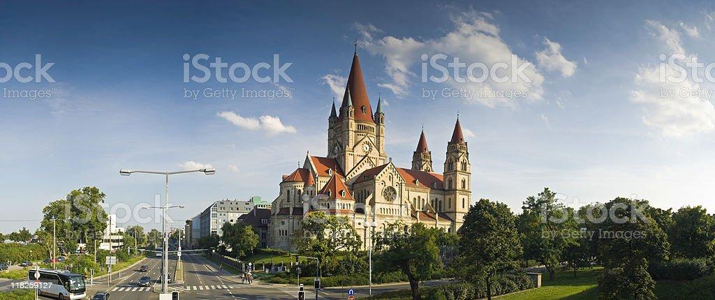 Francis of Assisi Church, Vienna royalty-free stock photo