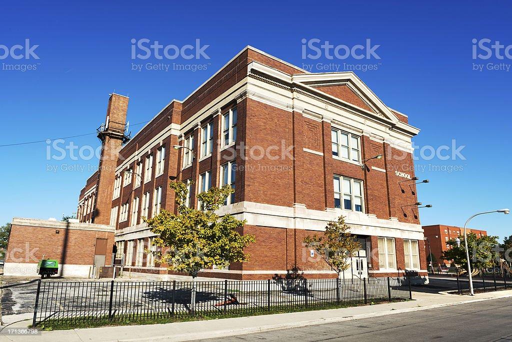 Francis Parkman School, Fuller Park, Chicago royalty-free stock photo