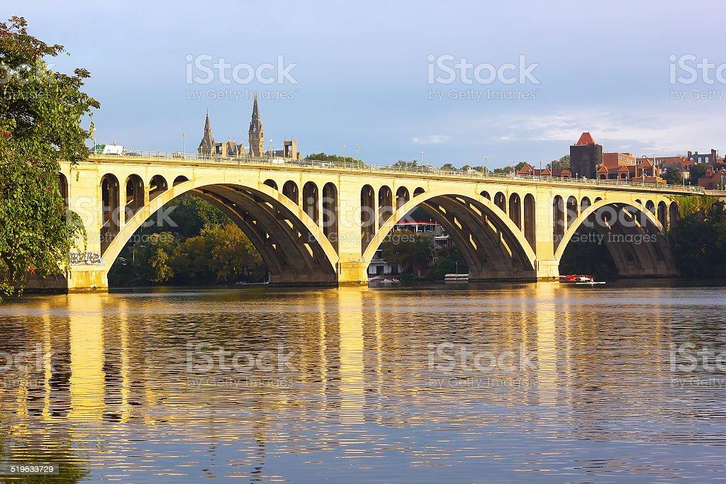 Francis Scott Key Bridge in Washington DC, USA stock photo