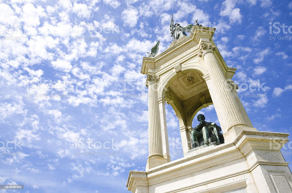 Francis Scott Key monument and statue at Golden Gate Park stock photo