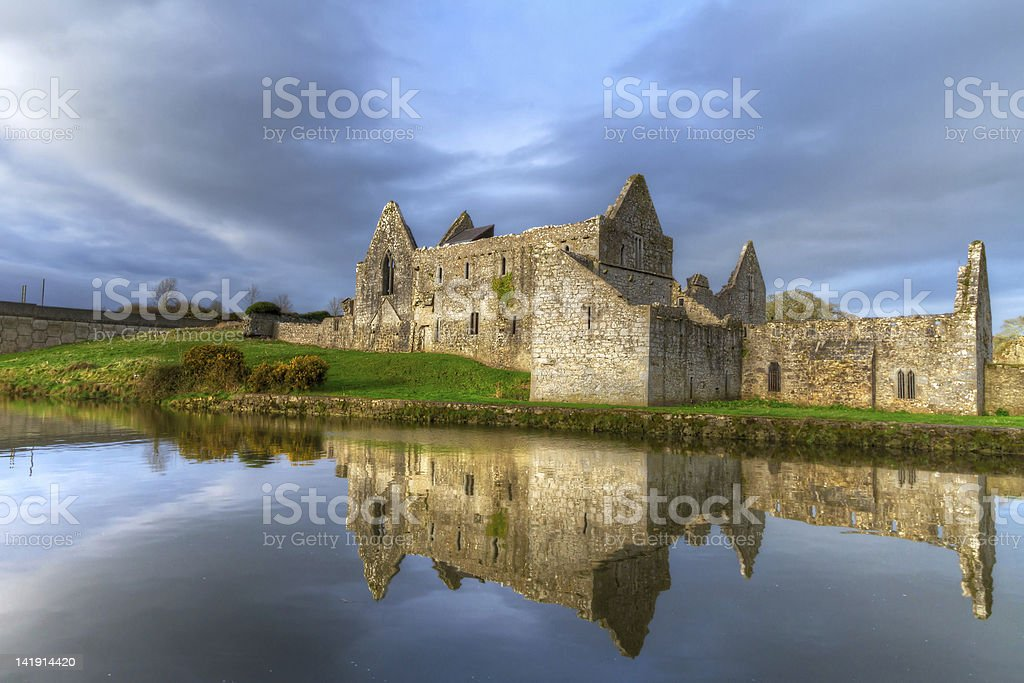 Franciscan Friary in Askeaton, Ireland stock photo