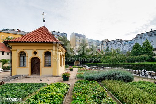 Franciscan Gardens. Natural oasis in the center of Prague