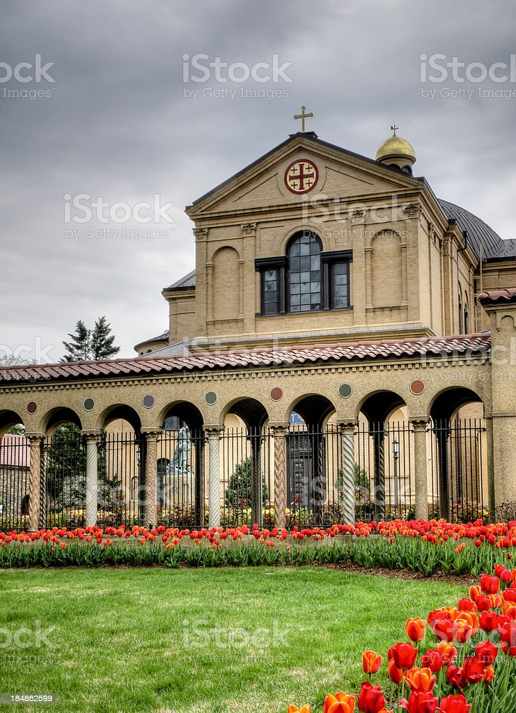 Franciscan Monastery in Washington DC stock photo