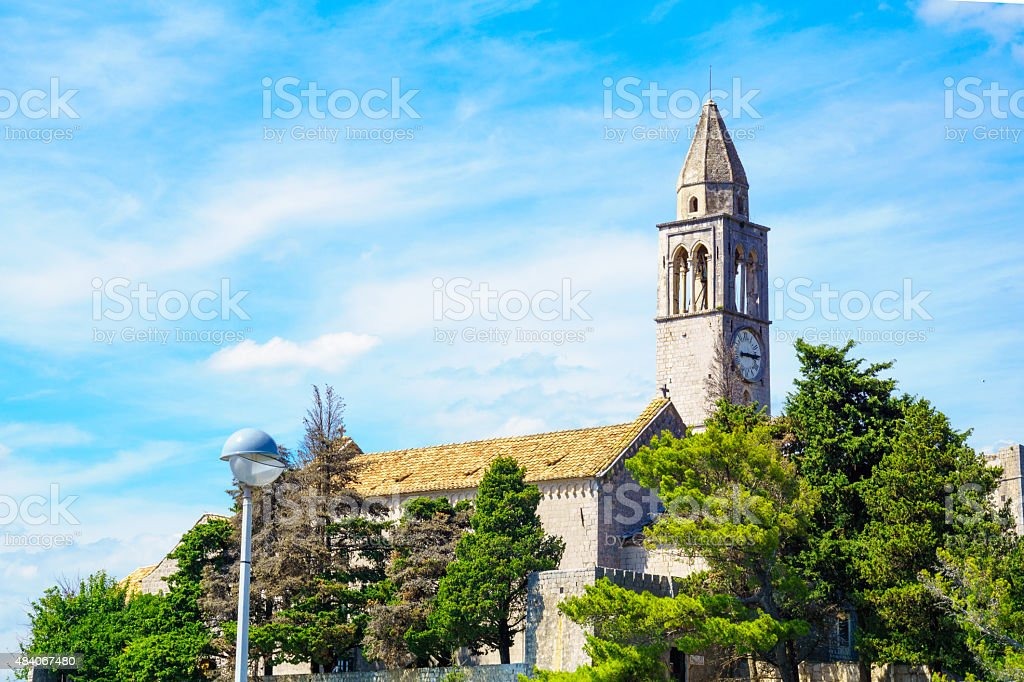 Franciscan Monastery, Lopud stock photo