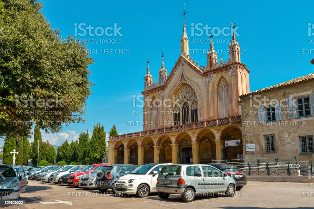 Franciscan monastery on the hill of Cimiez stock photo