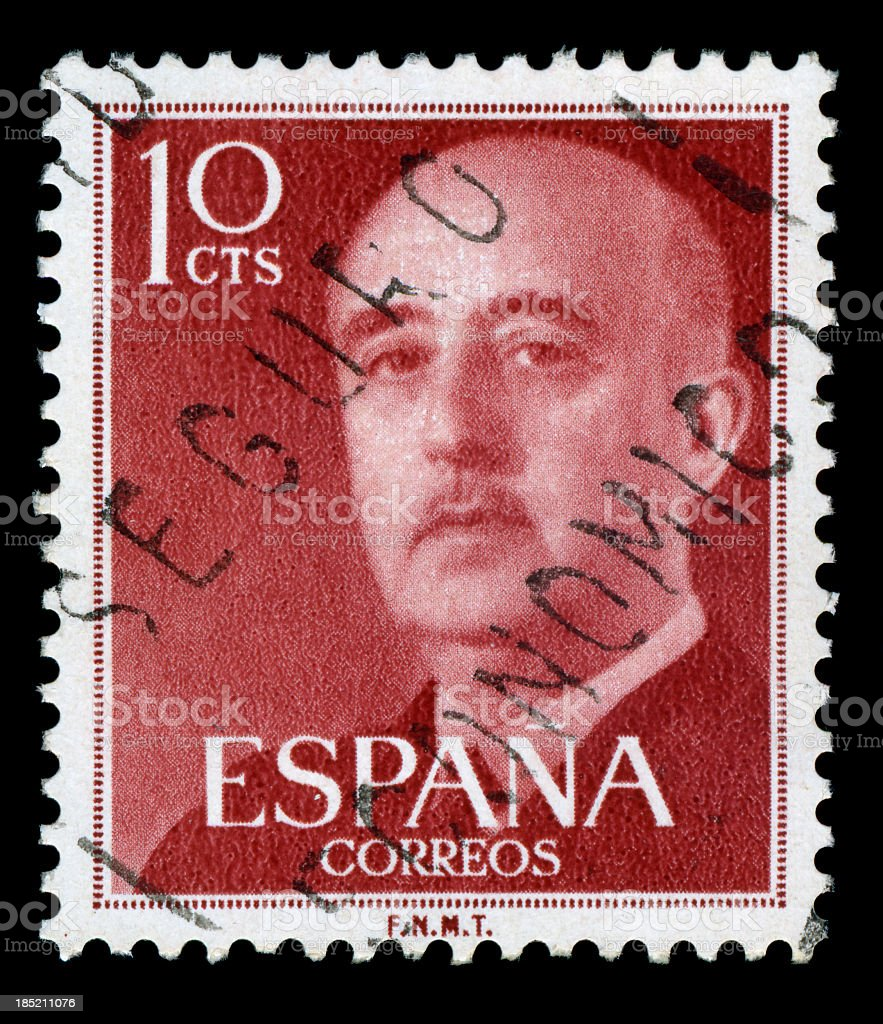 Francisco Franco Postage Stamp, Spain stock photo