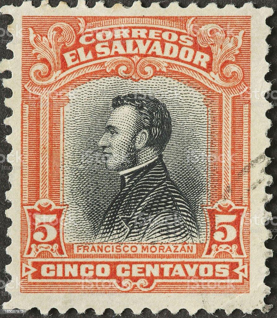 Francisco Morazan, 19th century Central American politician royalty-free stock photo