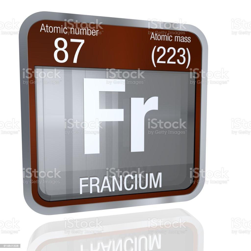 Fotografa de smbolo de francio en forma cuadrada con borde smbolo de francio en forma cuadrada con borde metlico y fondo transparente con reflejo en el urtaz Choice Image