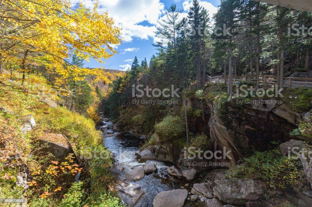 franconia notch state park, new hampshire, usa stock photo