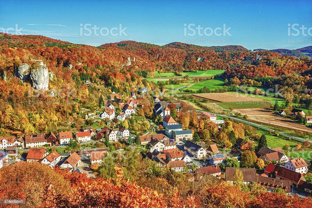 Fränkische Herbst in Streitberg – Foto