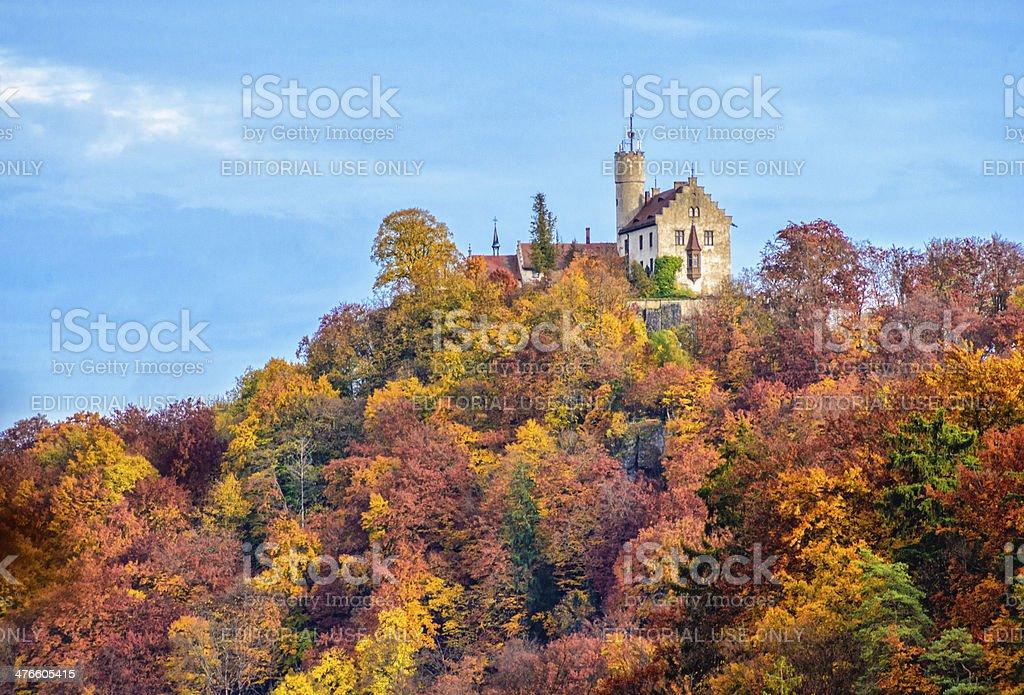 Franconian Burg Gössweinstein (Goswinesteyn Castle) stock photo