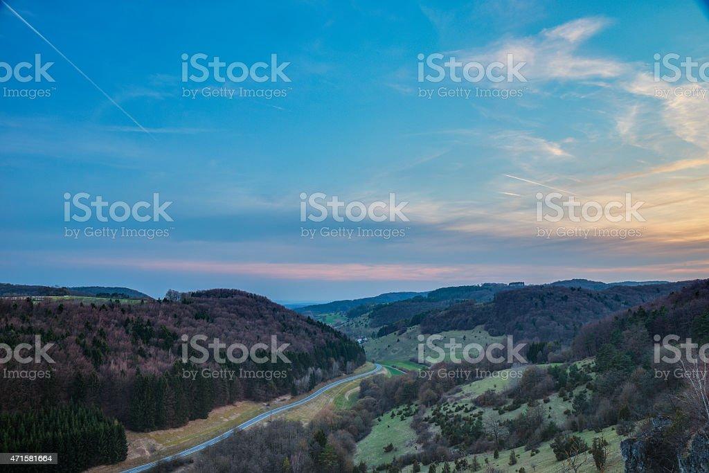 Franconian Spring Landscape stock photo