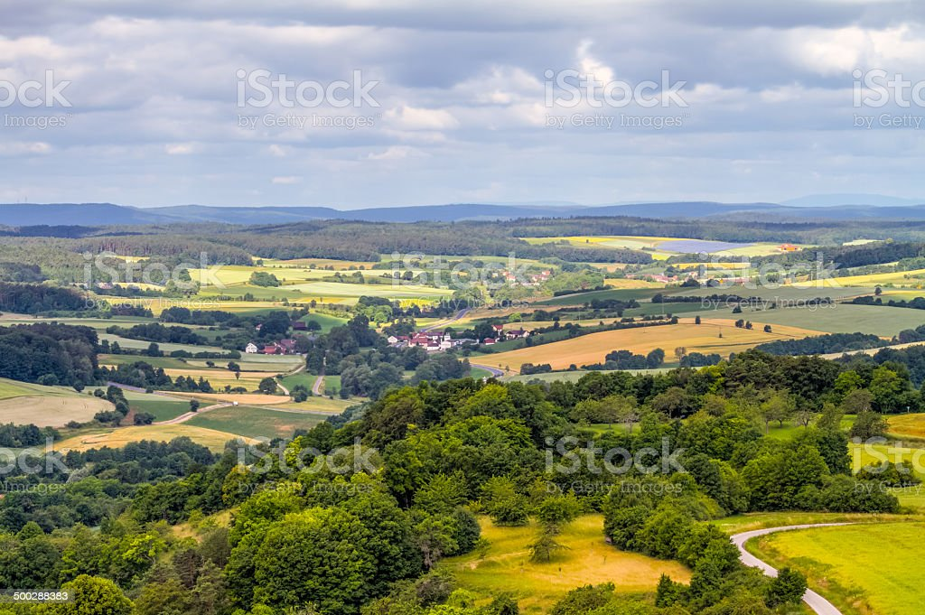 Franconian Summer Landscape stock photo