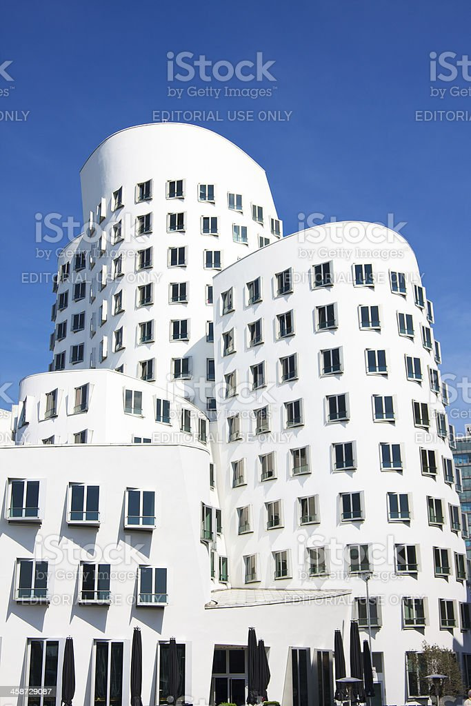 Frank O. Gehry's Neuer Zollhof buildings at MedienHafen, Dusseldorf stock photo