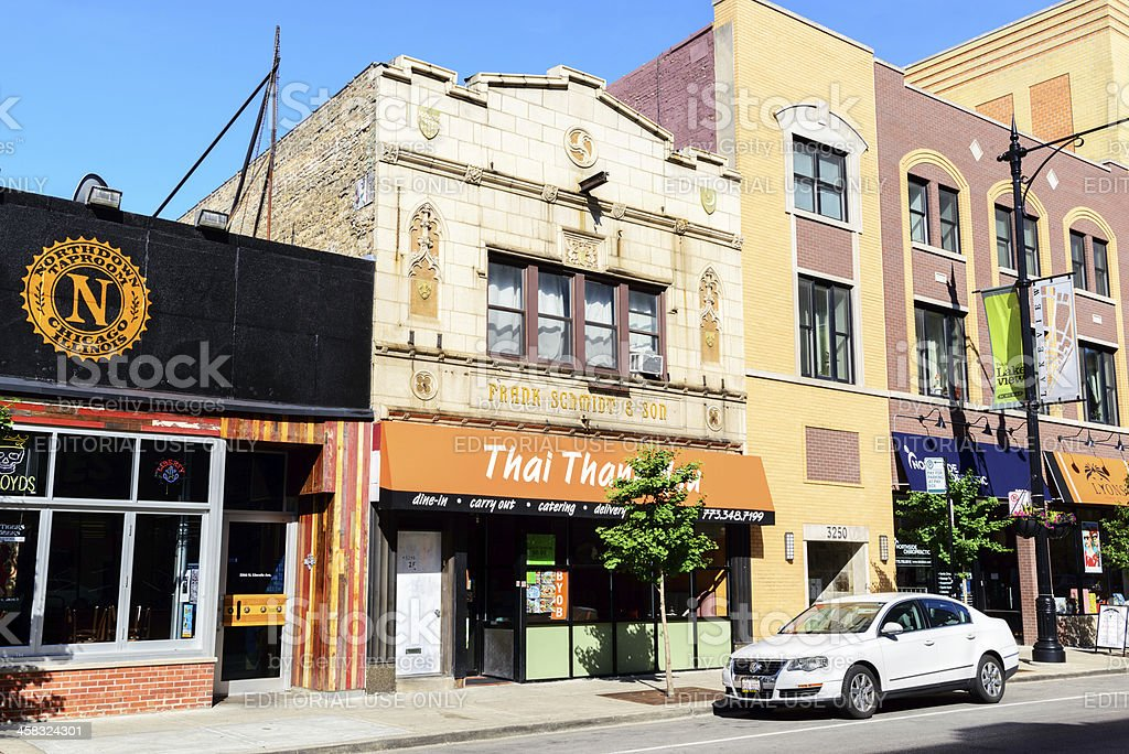 Frank Schmidt and Son Building in Lakeview, Chicago royalty-free stock photo