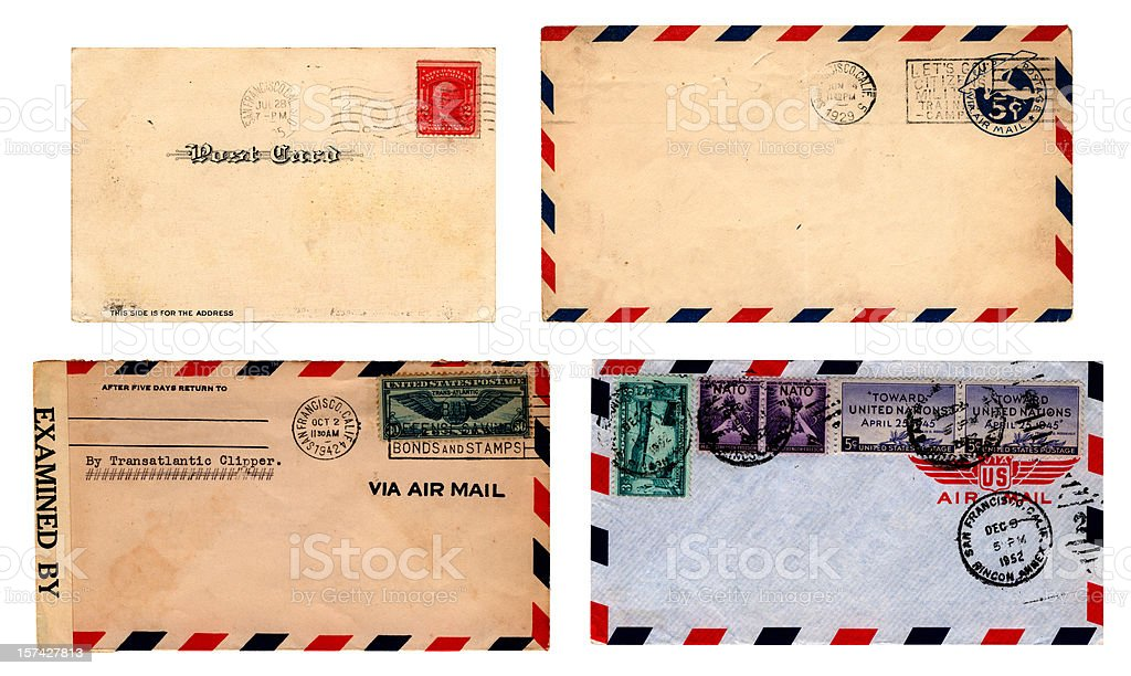 Franked San Francisco mail stock photo