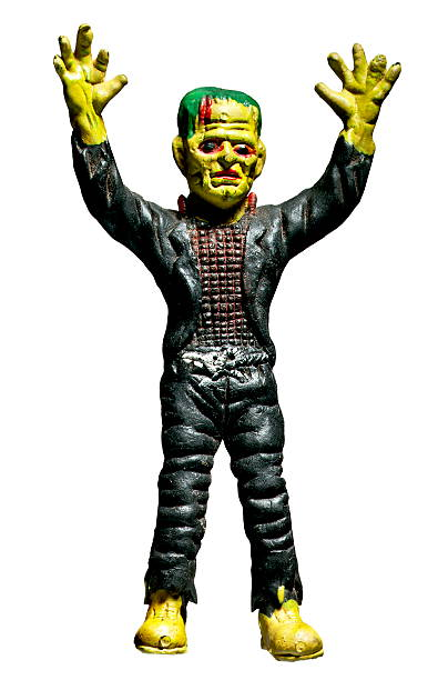 Frankenstein With Arms Raised stock photo