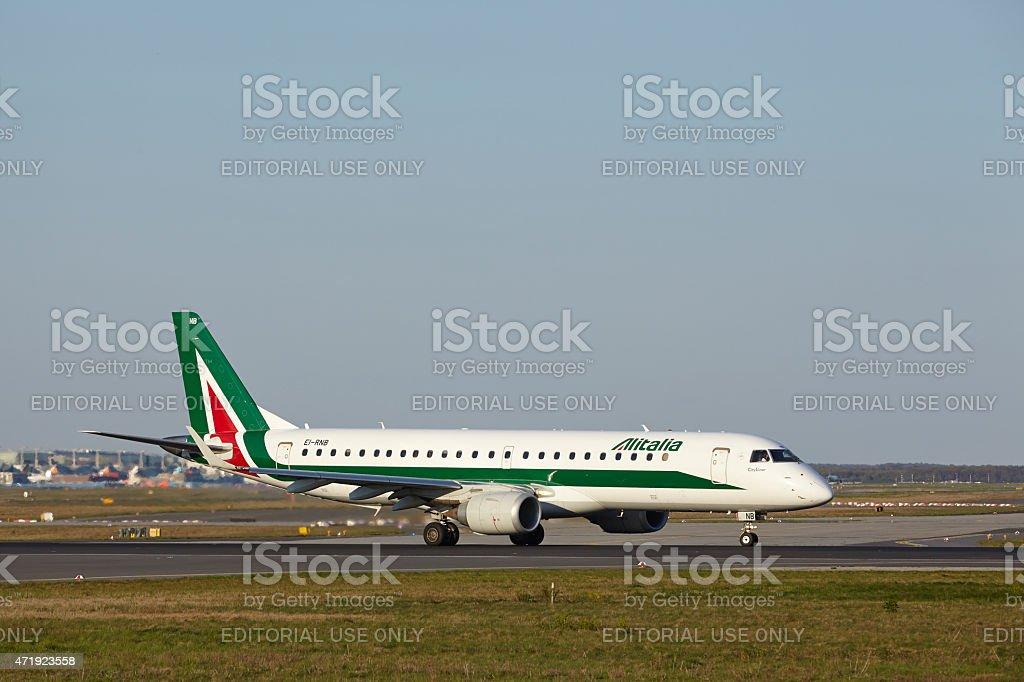 Aeroporto di Francoforte-Alitalia decolla - foto stock