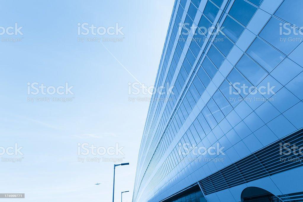 Frankfurt airport building exterior royalty-free stock photo