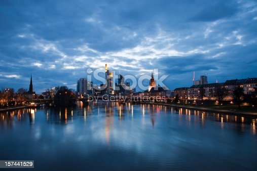 istock Frankfurt am Main Cityscape during night (HDR) 157441529