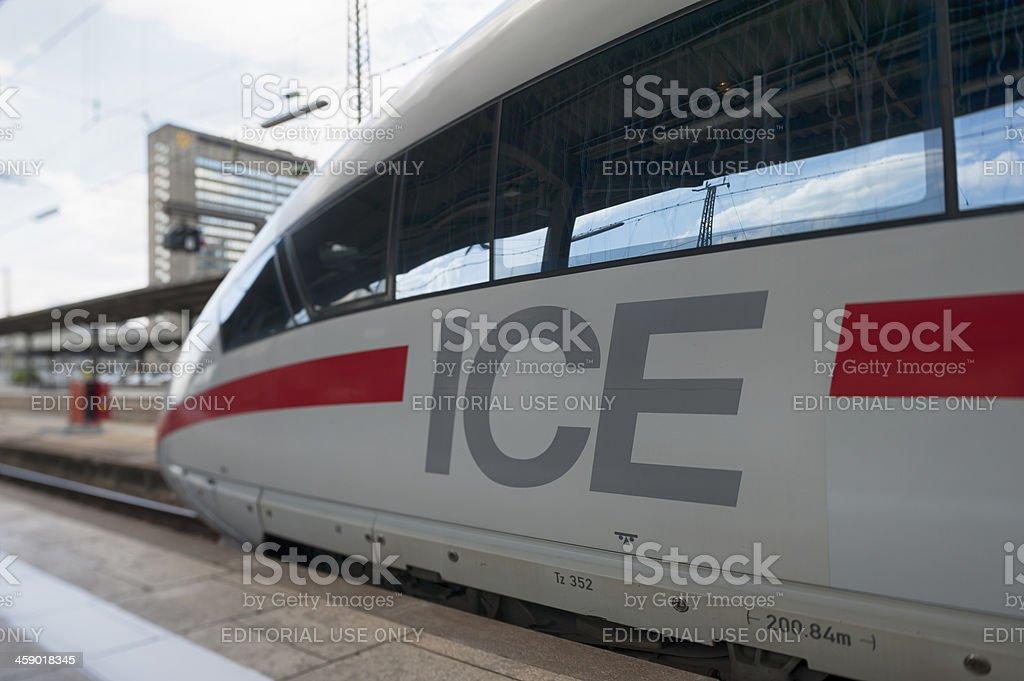 ICE  Frankfurt am Main Germany royalty-free stock photo