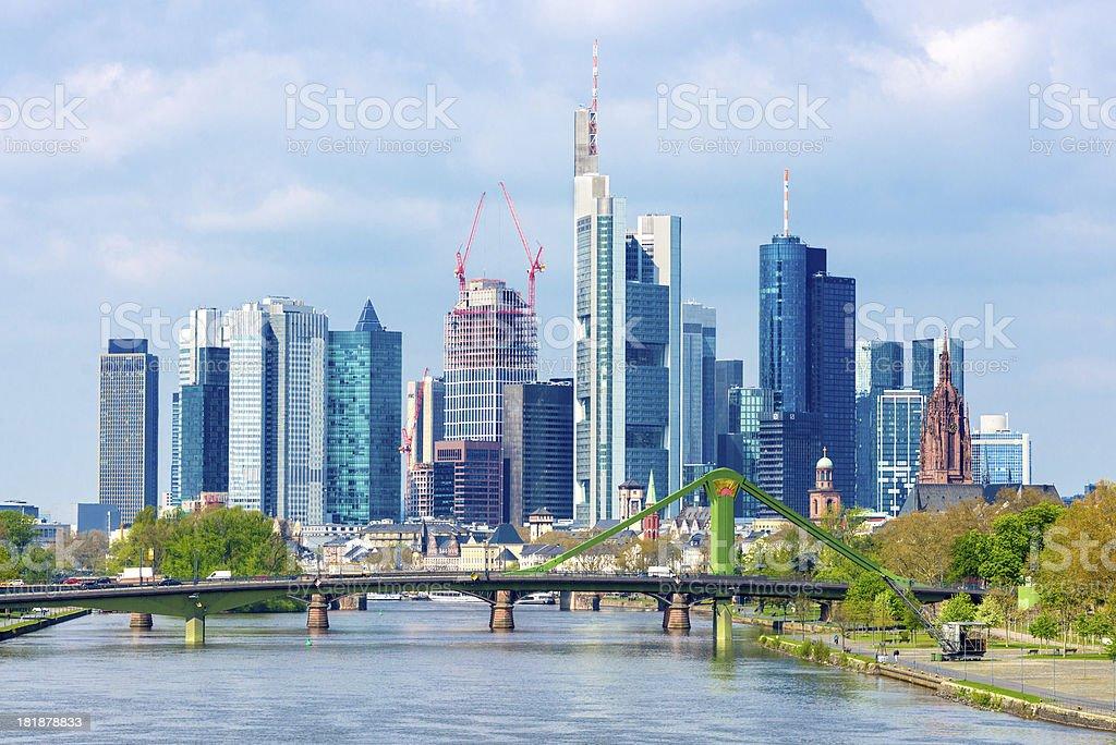 Frankfurt am Main Skyline, Germany royalty-free stock photo