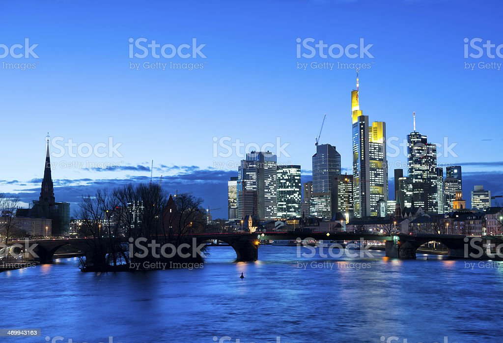Frankfurt am Main Skyline stock photo
