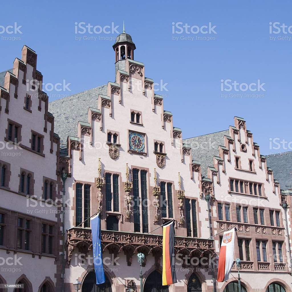 Frankfurt city hall facade (Roemer) royalty-free stock photo