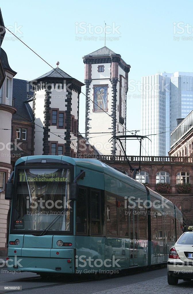 Vita della città di Francoforte foto stock royalty-free