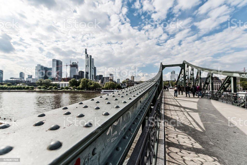 Frankfurt, Eiserner Steg, Skyline, Deutschland Lizenzfreies stock-foto