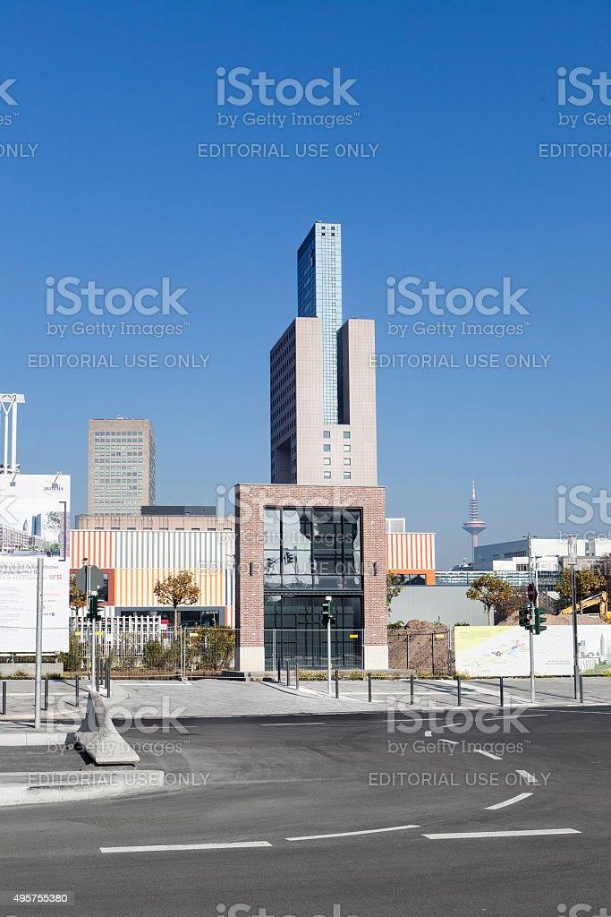 Frankfurt Europaviertel Europaallee stock photo