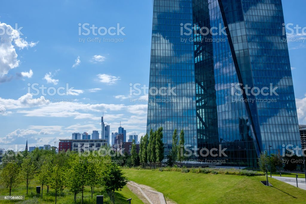 Frankfurt European Central Bank stock photo