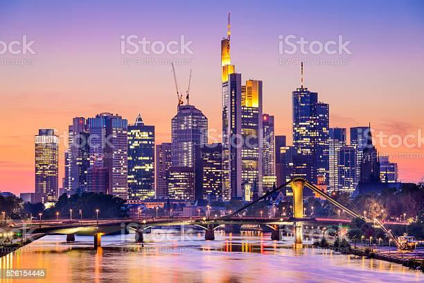 Skyline Von Frankfurt Am Main Deutschland Stockfoto und mehr Bilder von Frankfurt am Main