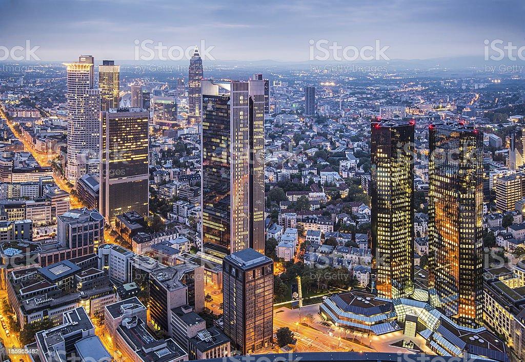 Frankfurt Germany Cityscape royalty-free stock photo