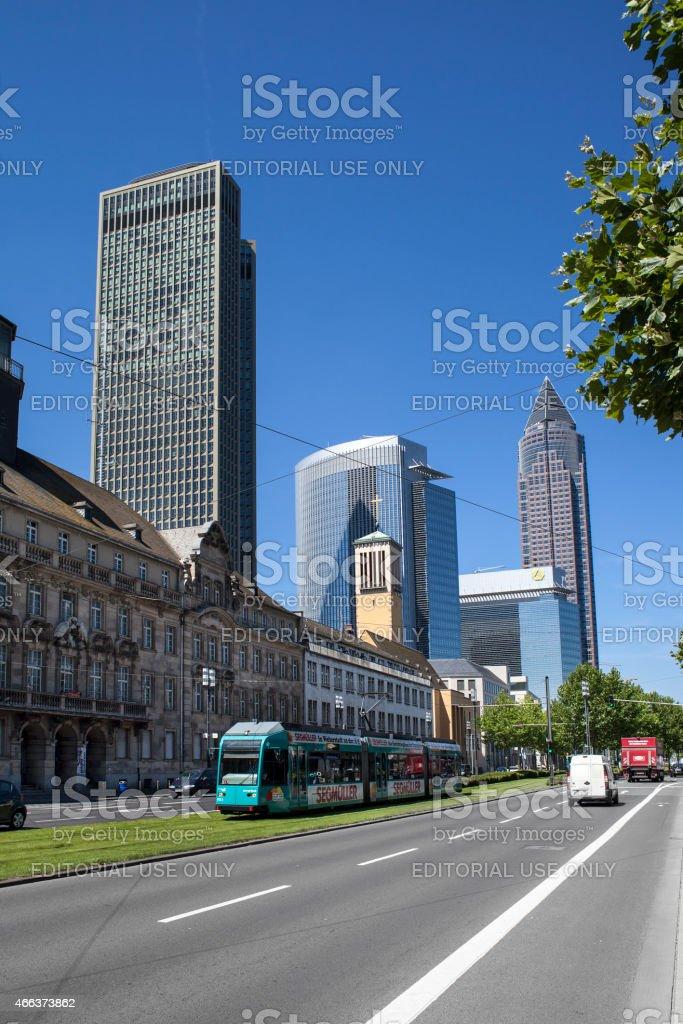 Frankfurt, Germany - Friedrich-Ebert-Anlage stock photo