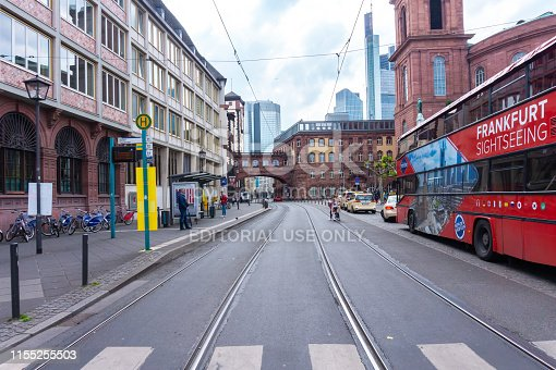 Frankfurt, Germany-May 17, 2019: Old architecture in Frankfurt am Main old town