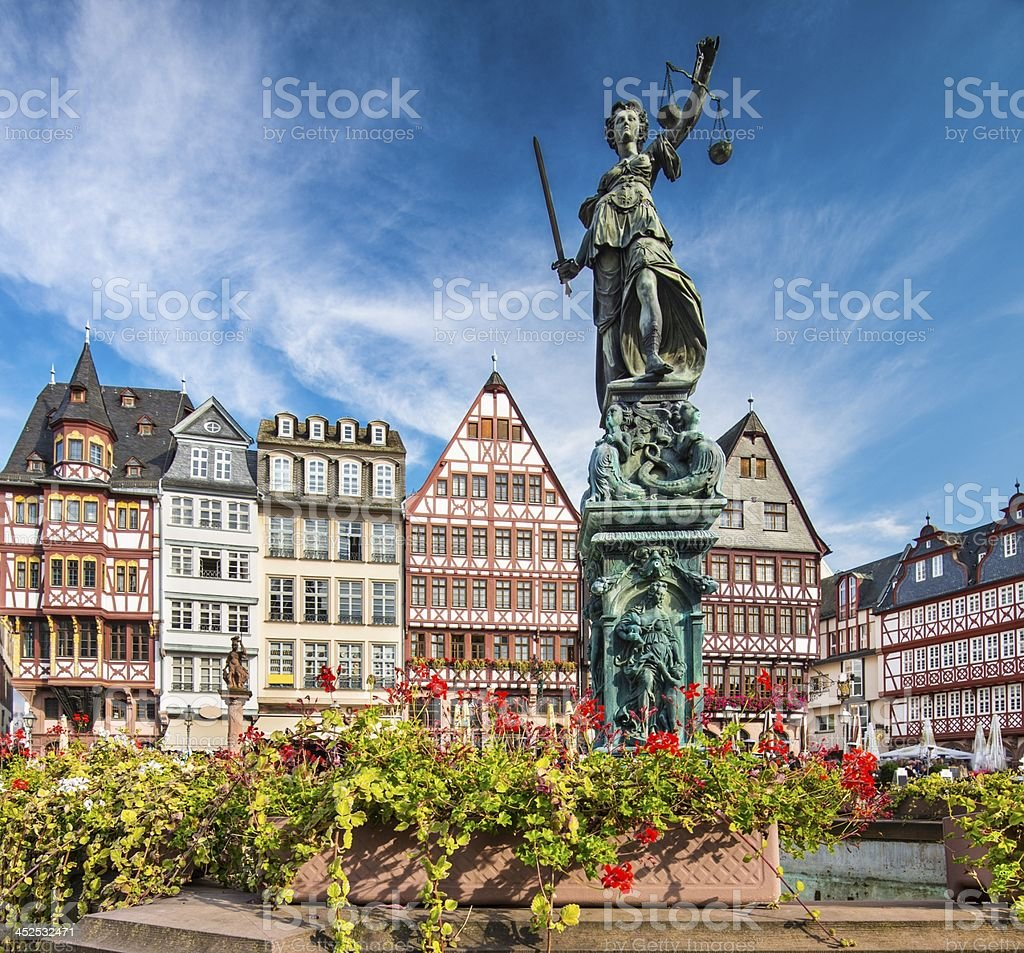 Frankfurt Germany Old City stock photo