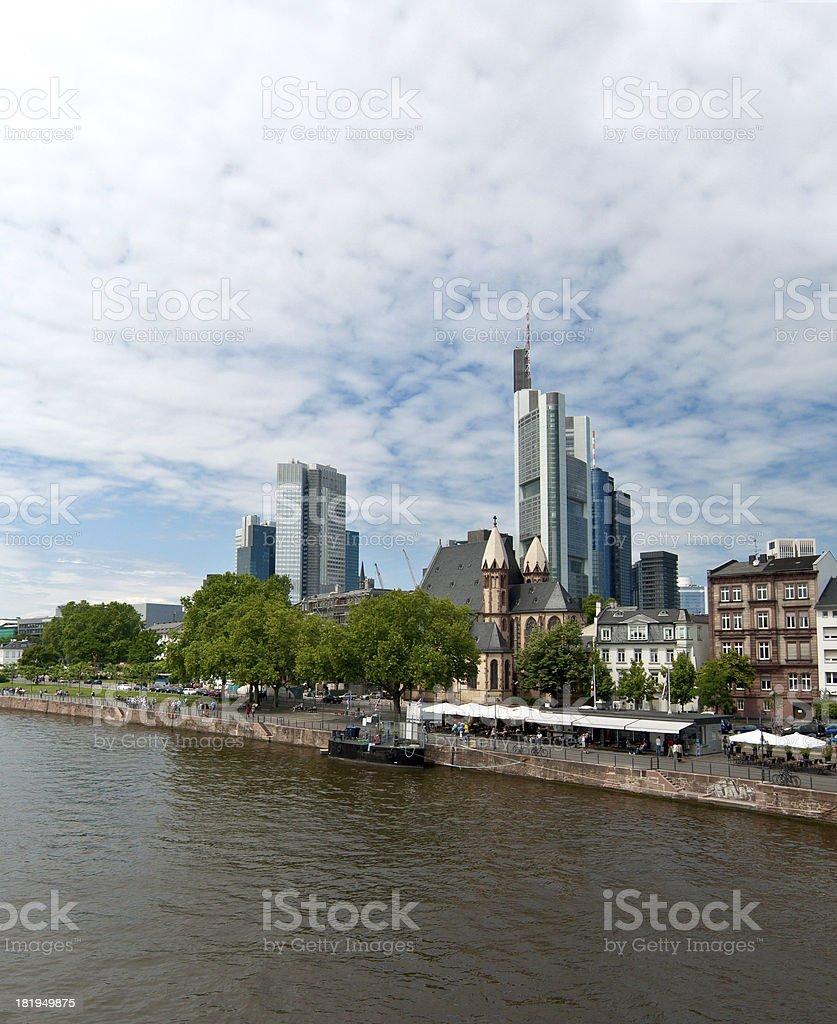 Frankfurt Main River And Buildings Stock Photo IStock - Frankfurt river