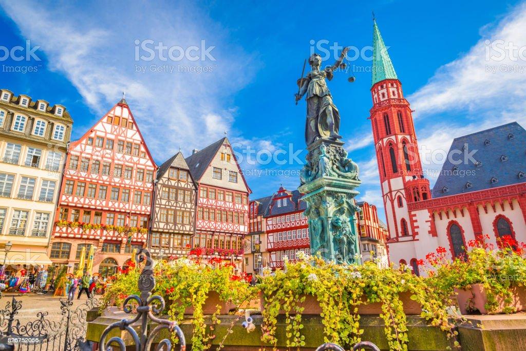 Frankfurt Old Town stock photo