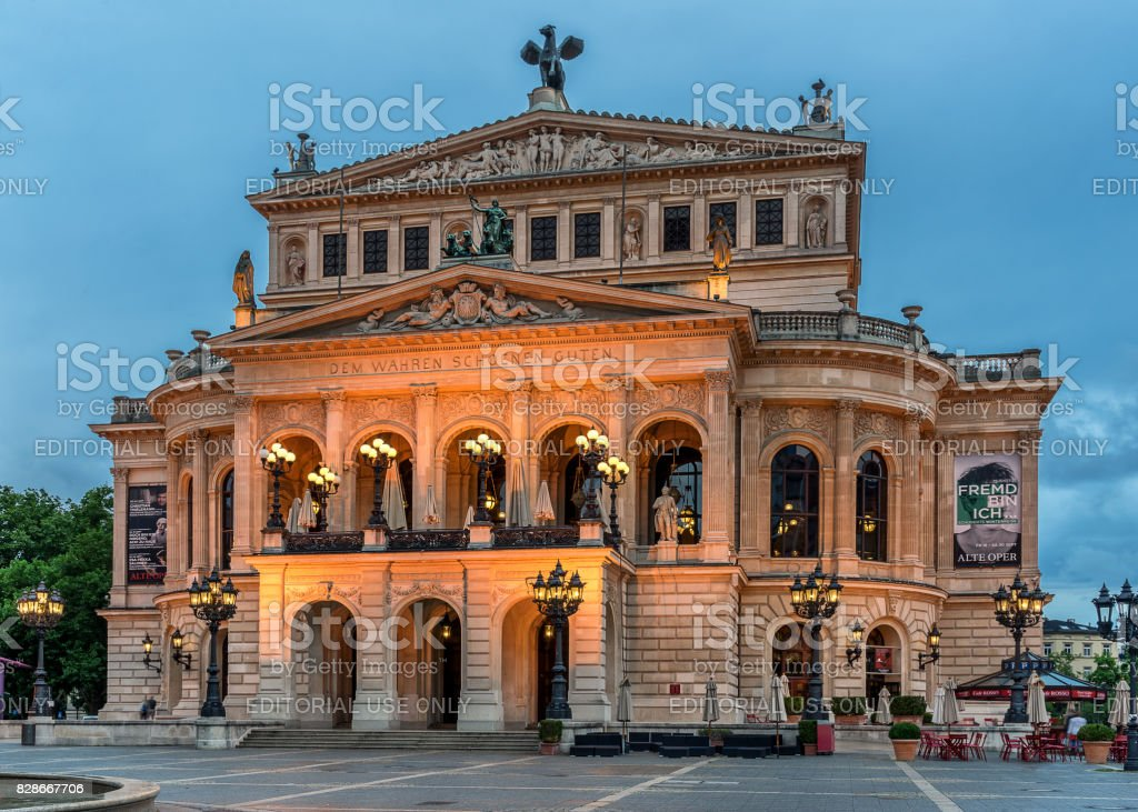 Frankfurt Opera House stock photo