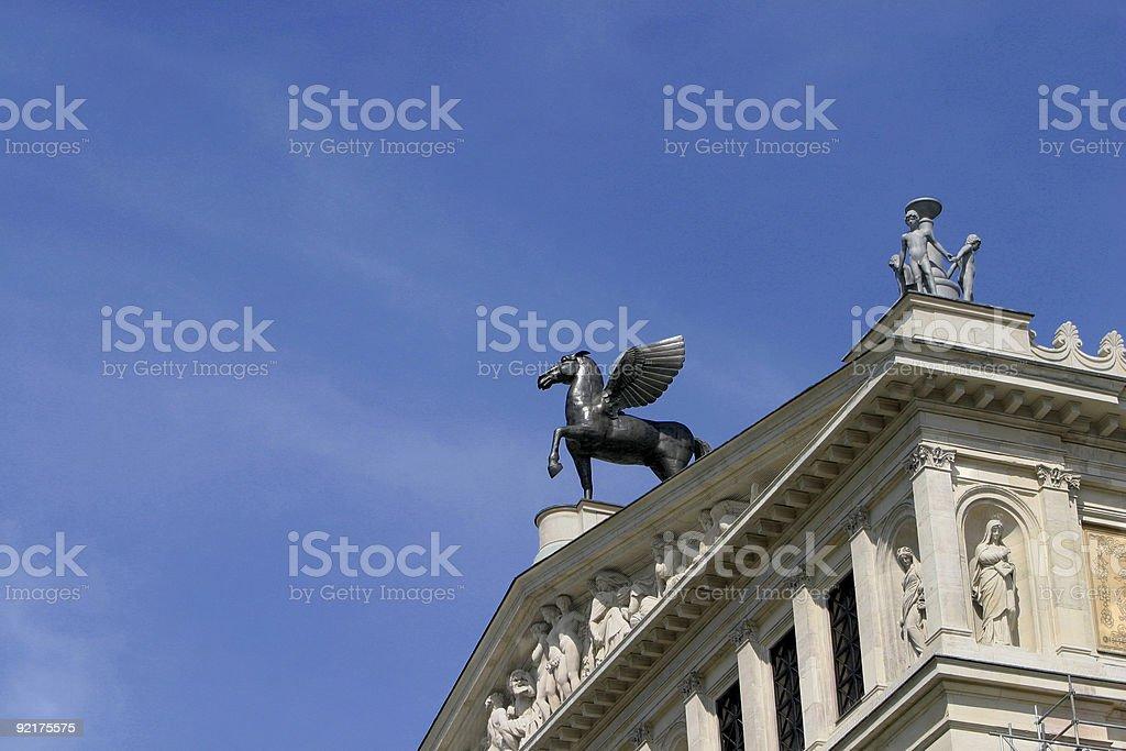 Frankfurt Opera House royalty-free stock photo