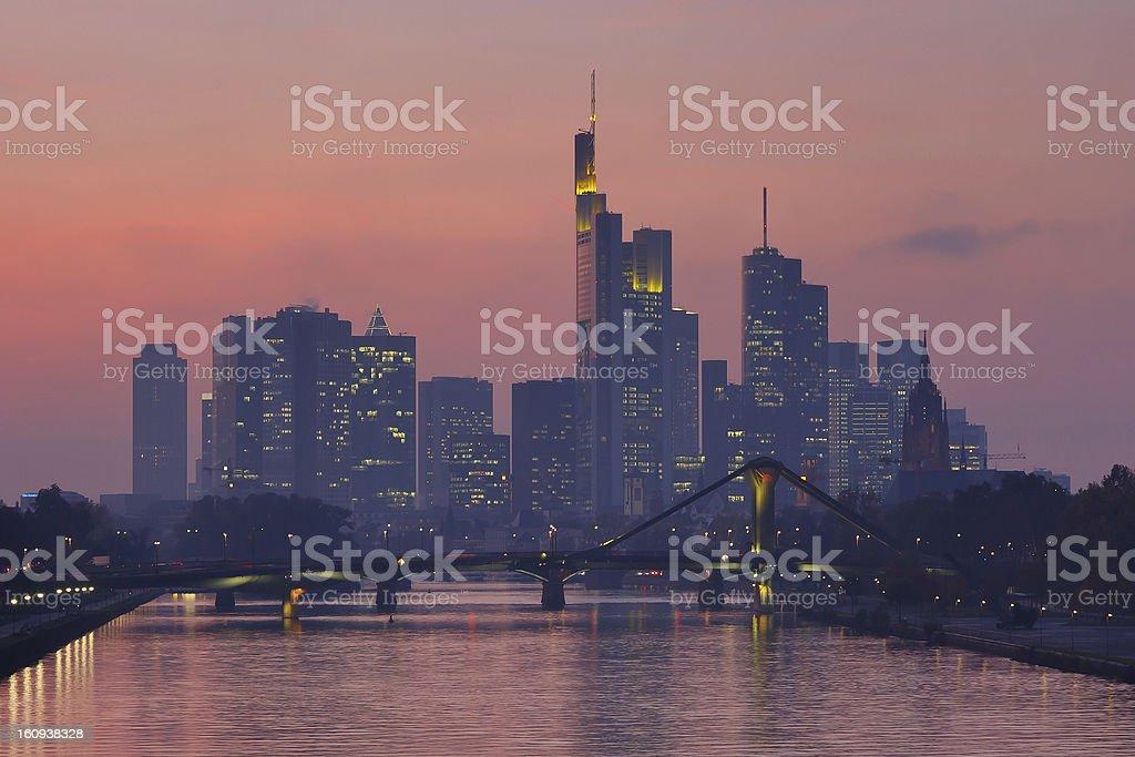 Frankfurt Skyline at Twilight royalty-free stock photo