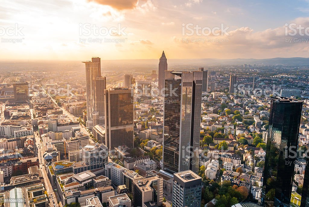 Frankfurt Skyline, Germany stock photo