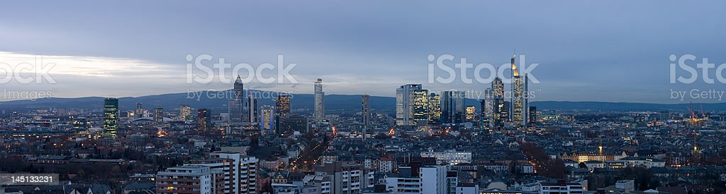 Frankfurt Skyline Panorama royalty-free stock photo
