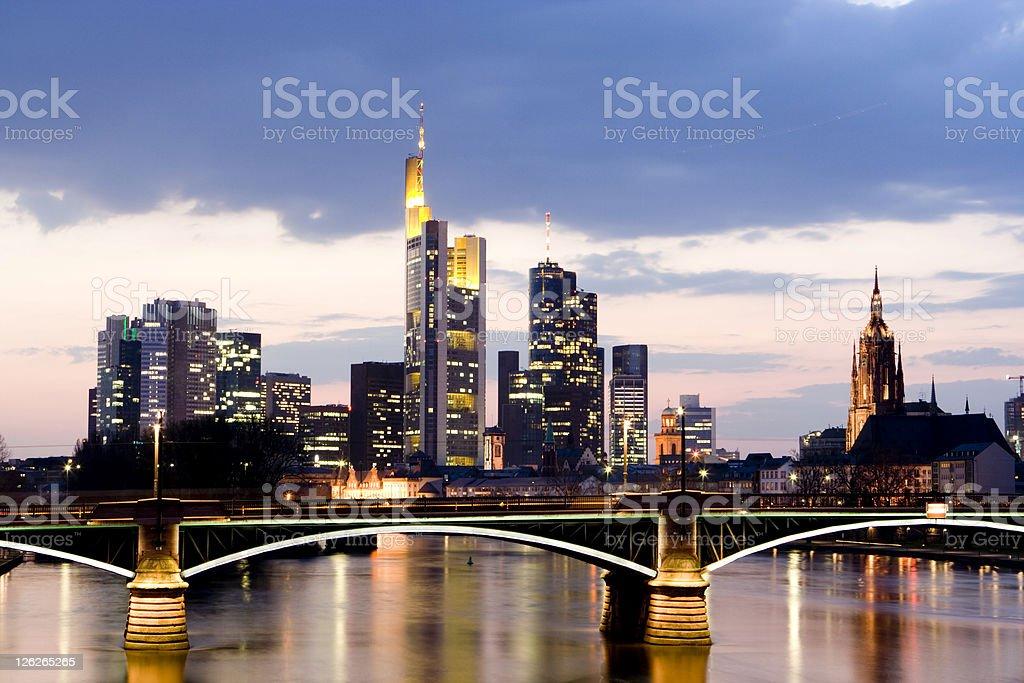 Frankfurt Skyline royalty-free stock photo
