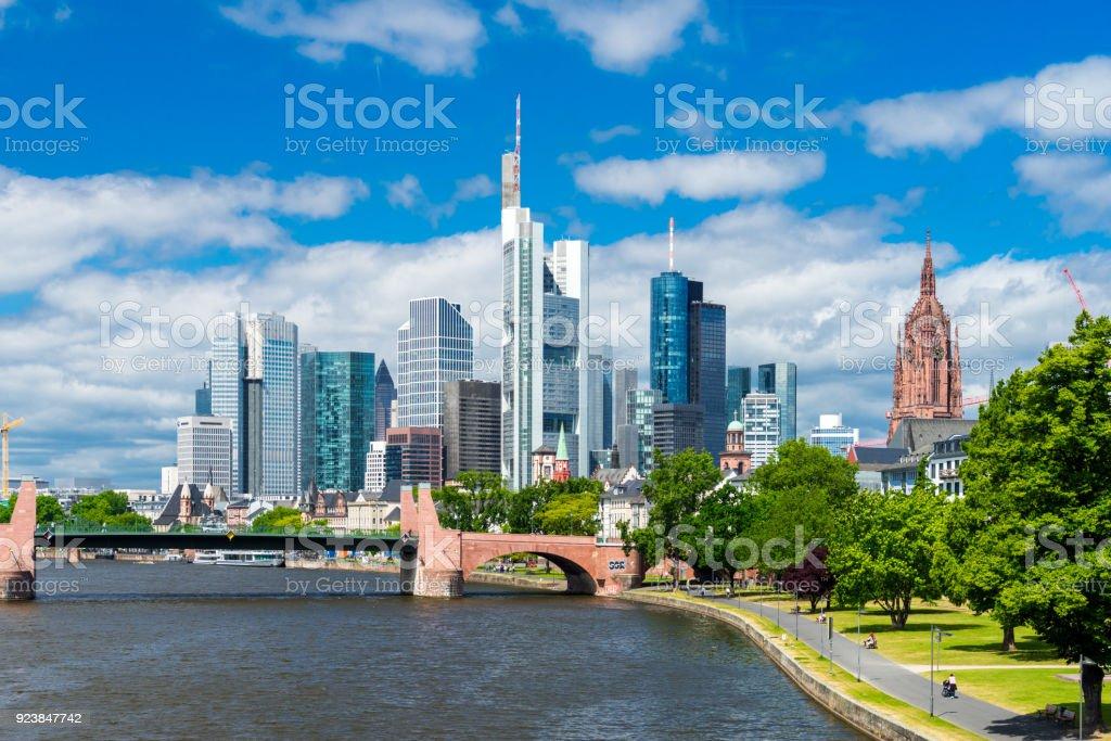 Skyline von Frankfurt (Main) - Lizenzfrei Architektur Stock-Foto